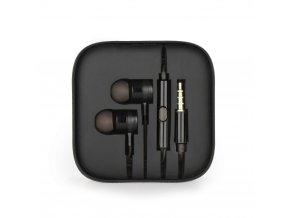Sluchátka HF Stereo Android MI metal - 3,5 mm, box - černé