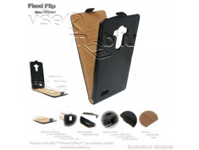 Pouzdro Forcell Slim Flip Case - HTC One Mini (M4) černé