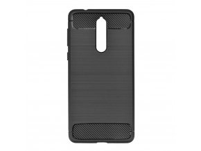 Pouzdro Forcell Carbon back cover pro Nokia 8 - černé