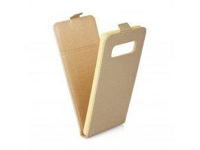 Forcell pouzdro Slim Flip Flexi FRESH pro Samsung N950F Galaxy Note 8 - złaté