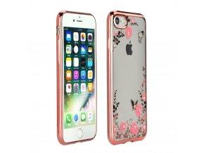 Pouzdro Forcell DIAMOND case Apple Iphone X zlaté-růžové