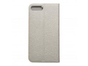 Pouzdro Forcell Luna Book Apple Iphone 7 Plus / 8 Plus stříbrné