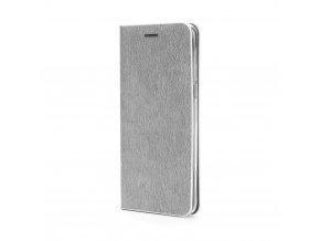 Pouzdro Forcell Luna Book Samsung Galaxy S7 (G930) stříbrné