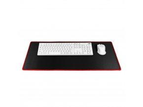 Klávesnice a podložka pod myš 700x300x3mm - černá/ červená