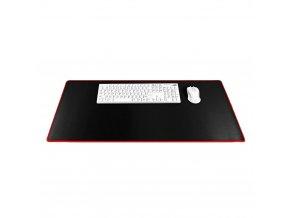 Podložka pod klávesnici a myš 900x400x3mm - černá / červená