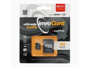 IMRO microSDXC 64GB Class 10 s Adapterém na SD