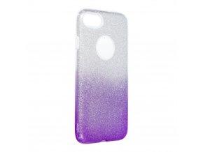 Pouzdro Forcell SHINING Apple Iphone 7 / 8 transparentní/fialové