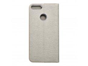 Pouzdro Forcell Luna Book Huawei P Smart  stříbrné