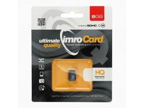 Paměťová karta IMRO 8GB microSD CLASS 10 UHS (bez adaptéru SD (Blister)
