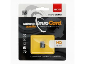 Paměťová karta IMRO microSD 16 GB bez adaptéru SD