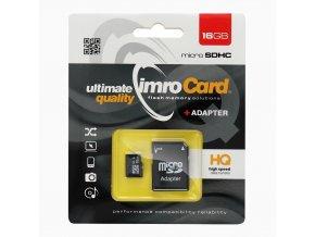 Paměťová karta IMRO microSD 16GB + adapter SD