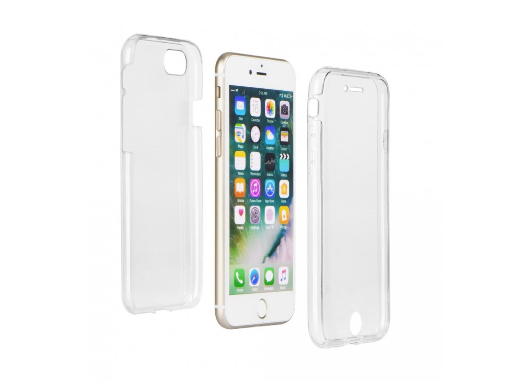 48267 2 silikonove pouzdro 360 full body soft case pro apple iphone 7 plus 5 5 transparentni