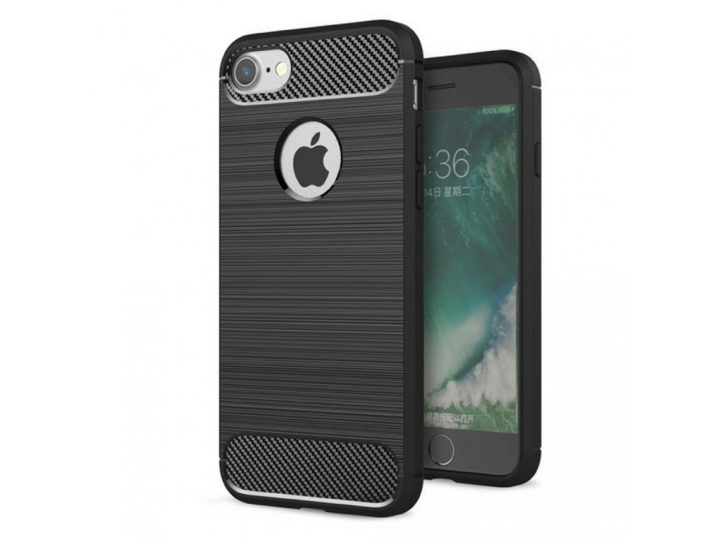 70488 2 pouzdro forcell carbon back cover pro apple iphone 6 6s cerne