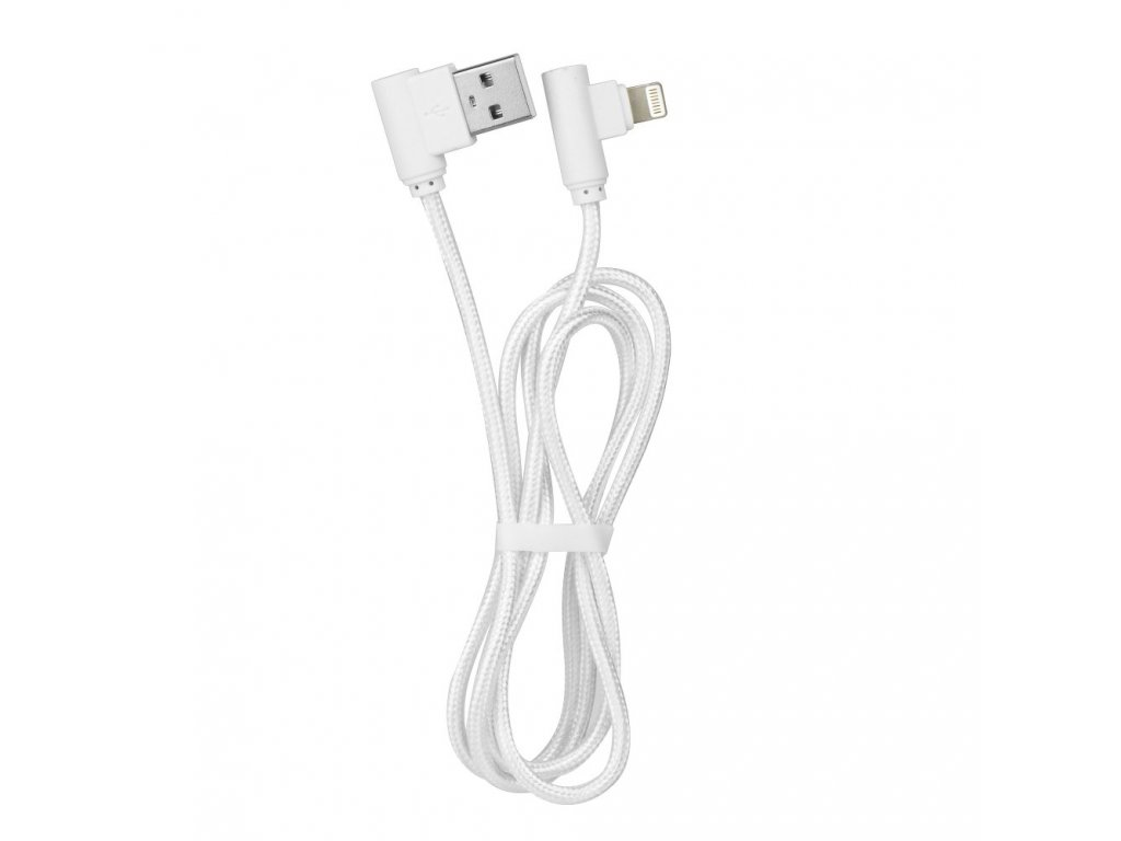 91695 kabel usb 90 stupnu pro apple iphone ipad lightning bily