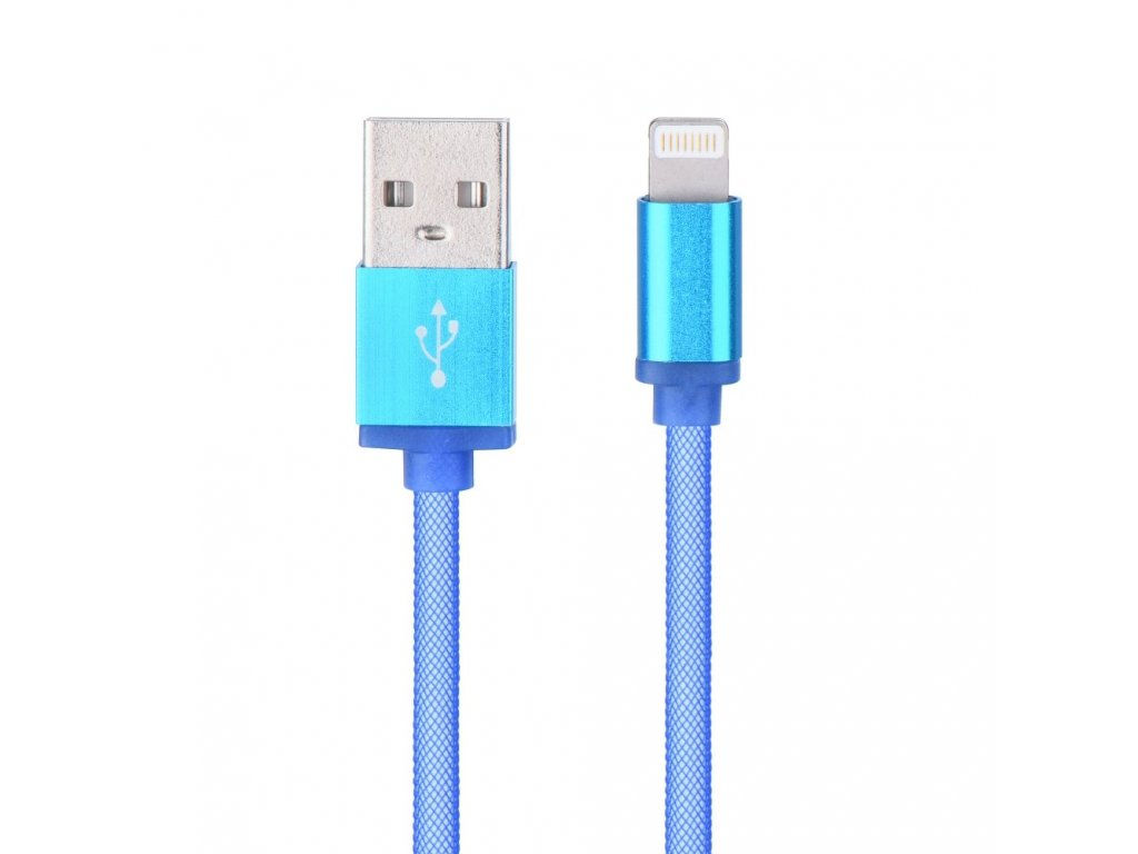91677 kabel usb metal new pro apple iphone ipad lightning modry