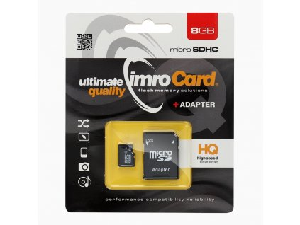 37517 2 pametova karta imro microsdhc 8gb adapter sd blister