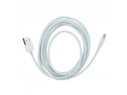 3178 2 forcell oem datovy kabel pro apple iphone 5 5c 5s 6 6 bily lightning 3 metry