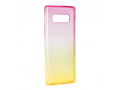 67095 2 pouzdro silikon forcell ombre samsung galaxy note 8 ruzovo zlate