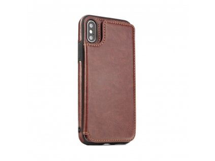 109352 pouzdro forcell wallet case samsung a7 2018 hnede