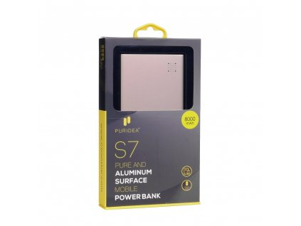 113639 power bank puridea s7 5000mah zlata ruzova