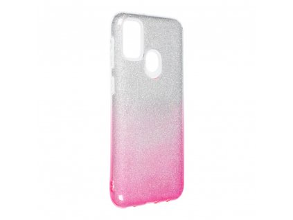 159401 1 pouzdro forcell shining samsung galaxy m21 transparent ruzove