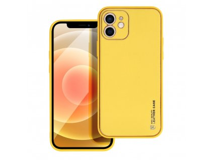 181143 3 pouzdro forcell leather case apple iphone 12 zlute