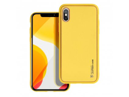 181077 3 pouzdro forcell leather case apple iphone x zlute