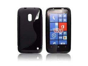 Pouzdro Back Case Lux - Nokia Lumia 620 černé vzor S