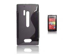 Pouzdro Back Case Lux - Nokia 928 Lumia černé vzor S