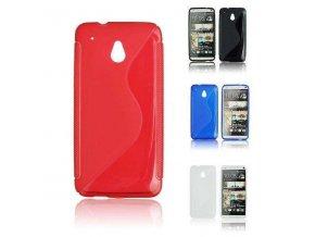 Pouzdro Back Case Lux - HTC One Mini (M4) červené vzor S