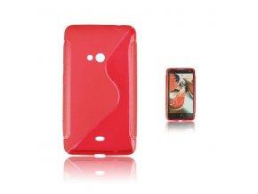 Pouzdro Back Case Lux - Nokia 625 Lumia červené vzor S