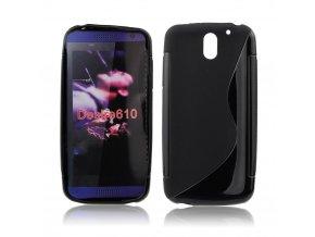 Pouzdro Back Case Lux - HTC Desire 610 vzor S černé