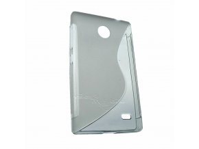 Pouzdro Back Case Lux - Nokia X/X+ transparent vzor S