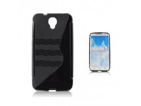 Pouzdro Back Case Lux - Alcatel OT Idol 2 (6037K) černé vzor S