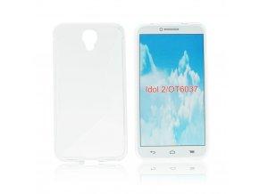 Pouzdro Back Case Lux - Alcatel OT Idol 2 (6037K) transparentní vzor S