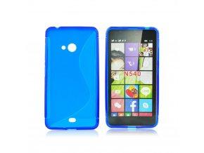 Pouzdro Back Case Lux - Microsoft Lumia 540 - modré (vzor S)