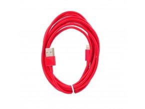 Forcell OEM Datový kabel pro Apple iPhone 6/5 červený Lightning - 2metry