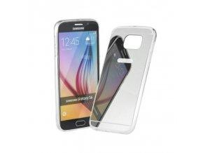 Pouzdro FORCELL Mirror - Zrcadlo pro Huawei P8 Lite stříbrné