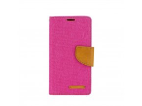 Pouzdro Canvas Mercury Book - Microsoft Lumia 650 - růžové