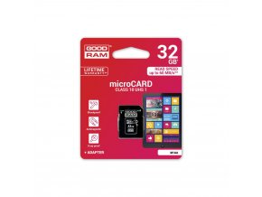 Paměťová karta GOODRAM microSD 32GB CLASS 10 UHS I s adapterem SD