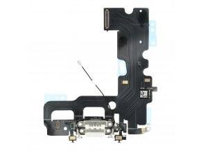 """Flex kabel konektoru nabíjení iPhone 7 (4.7"""") vč. mikrofonu - bílá"""