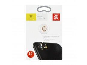 Sklíčko zadní kamery iPhone 7 vč. kroužku - zlato/růžová