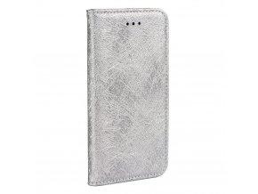 Forcell pouzdro MAGIC Book - Samsung A320 Galaxy A3 2017 - stříbrné