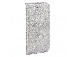 Forcell pouzdro MAGIC Book - Apple iPhone X - stříbrné