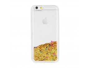 Forcell pouzdro SAND Silicone pro Apple iPhone 5/5S/SE - zlaté