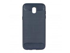 Pouzdro Forcell Carbon back cover pro Samsung J330 Galaxy J3 2017 - modré