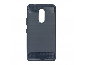 Pouzdro Forcell Carbon back cover Lenovo K6 Note - modré