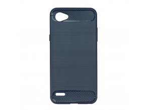 Pouzdro Forcell Carbon back cover pro LG Q6 - modré