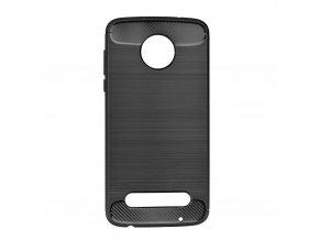 Pouzdro Forcell Carbon back cover pro Lenovo Moto Z2 Play - černé