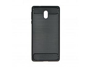 Pouzdro Forcell Carbon back cover pro Nokia 3 - černé